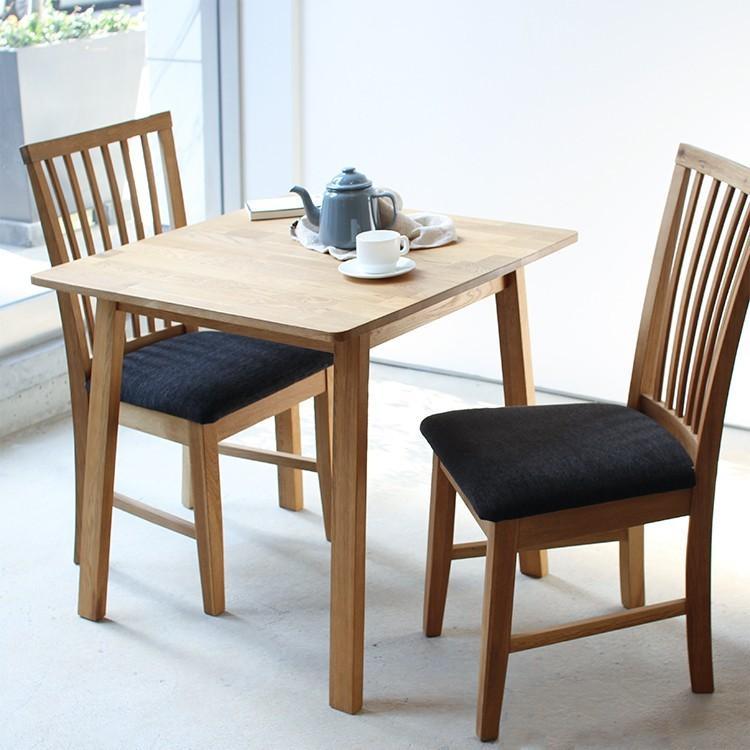 ダイニングテーブル オーク 木製 W75×D75(cm) 2名用 幅75cm 食卓 ファミリー 1人暮らし 2人暮らし 広々 テーブル 2名 MTS-087|3244p|07