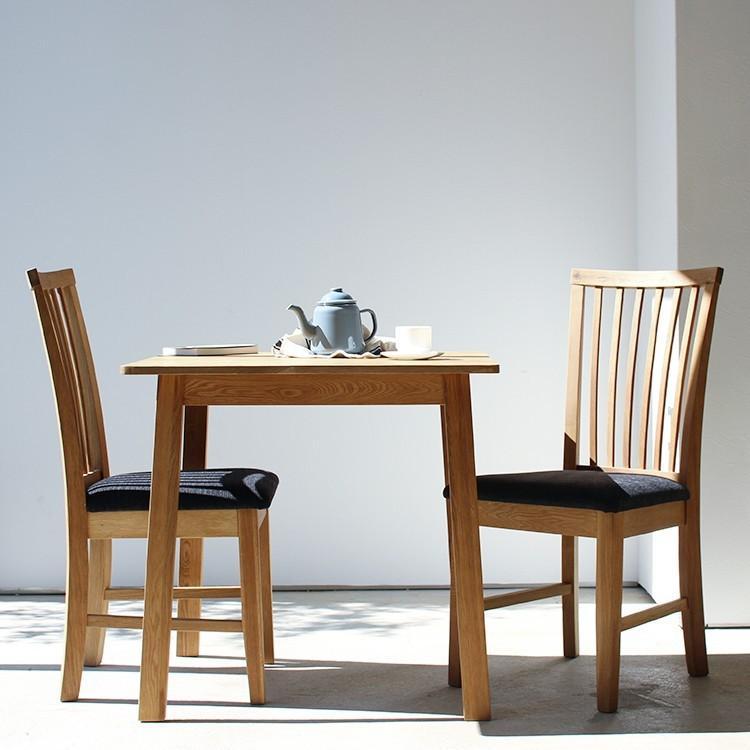 ダイニングテーブル オーク 木製 W75×D75(cm) 2名用 幅75cm 食卓 ファミリー 1人暮らし 2人暮らし 広々 テーブル 2名 MTS-087|3244p|09
