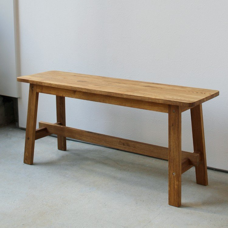 ダイニングベンチ OAK 木製 W100×D29×H45(cm) MTS-090 3244p 07
