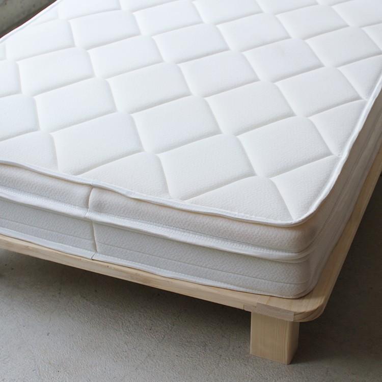 ベッドフレーム ベッド シングル W100 無垢材(パイン材) ヘッドレス すのこベッド 北欧 シンプル ナチュラル MTS-097|3244p|13