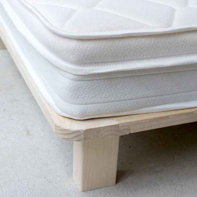 ベッドフレーム ベッド シングル W100 無垢材(パイン材) ヘッドレス すのこベッド 北欧 シンプル ナチュラル MTS-097|3244p|14