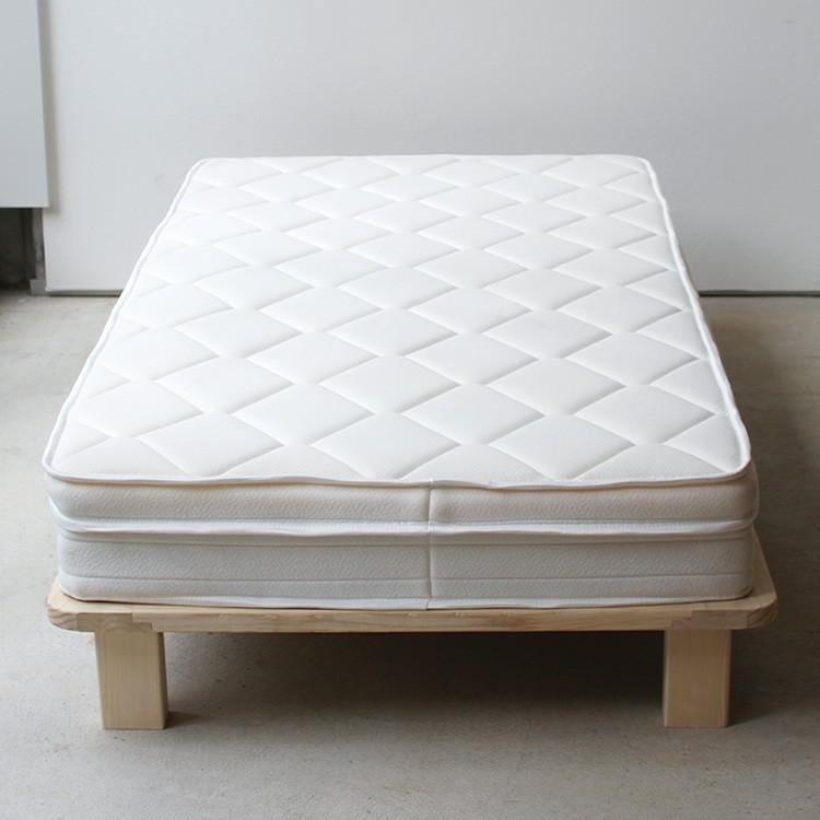 ベッドフレーム ベッド シングル W100 無垢材(パイン材) ヘッドレス すのこベッド 北欧 シンプル ナチュラル MTS-097|3244p|07