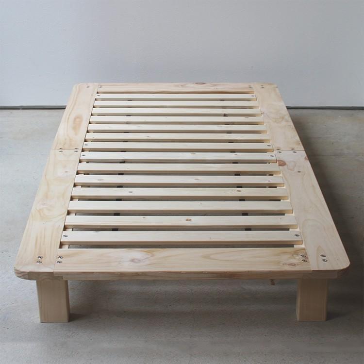 ベッドフレーム ベッド シングル W100 無垢材(パイン材) ヘッドレス すのこベッド 北欧 シンプル ナチュラル MTS-097|3244p|08