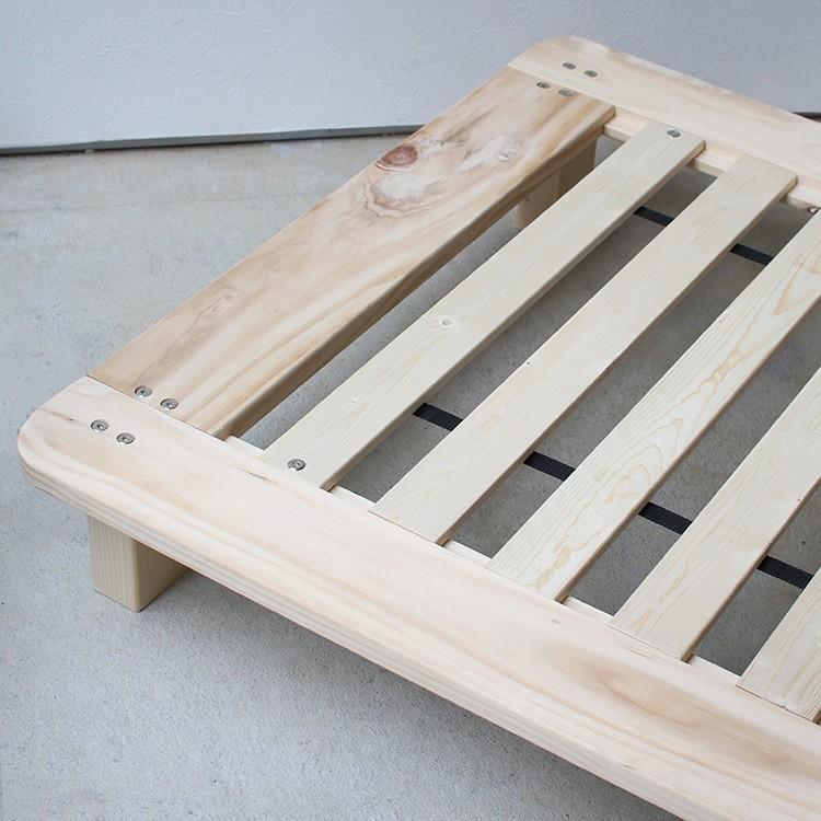 ベッドフレーム ベッド シングル W100 無垢材(パイン材) ヘッドレス すのこベッド 北欧 シンプル ナチュラル MTS-097|3244p|09