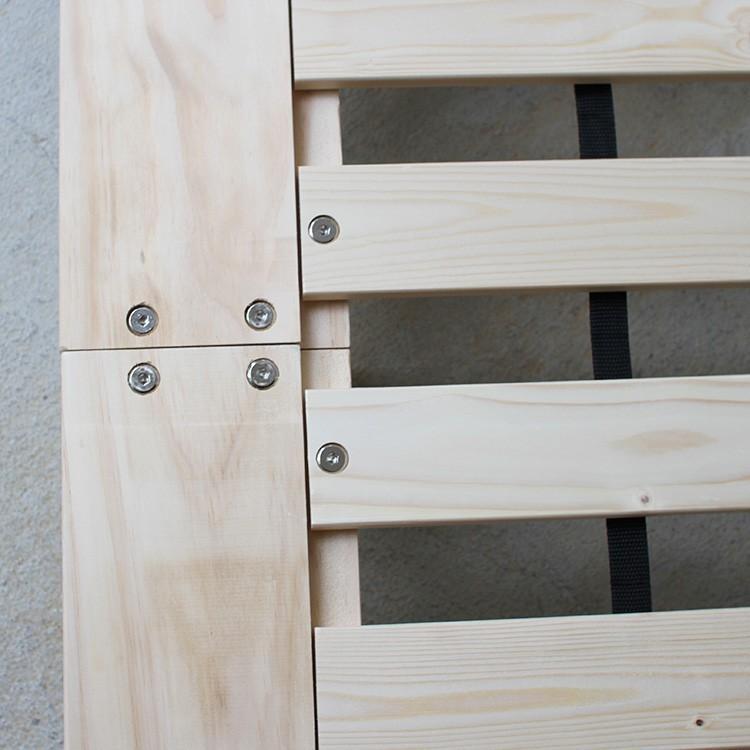 ベッドフレーム ベッド シングル W100 無垢材(パイン材) ヘッドレス すのこベッド 北欧 シンプル ナチュラル MTS-097|3244p|10