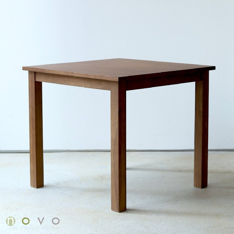 ダイニングテーブル アウトレット セール W800 80cm 2名用 ナチュラル ウォールナット アッシュ 木製 novo series ノヴォシリーズ|3244p