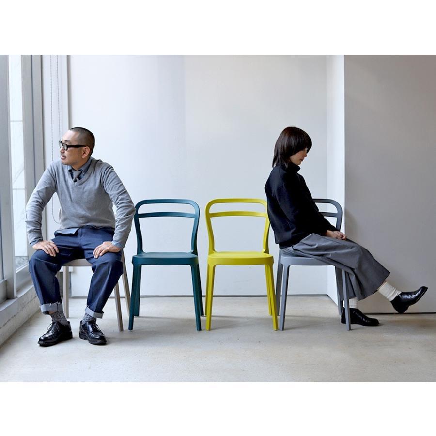 スタッキングチェア ステープル 椅子 イス チェア 積み重ねOK PP製 Staple chair YE BE GY BL オフィス 会議用チェア 会議室チェア カフェ MTS-143|3244p|15