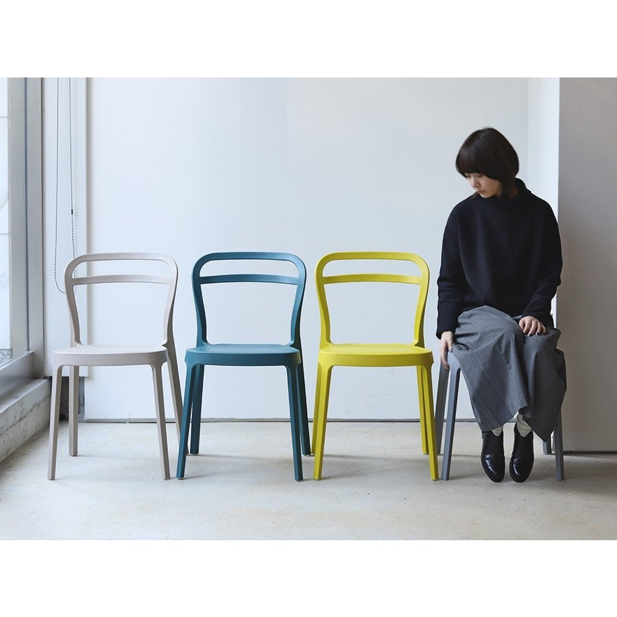 スタッキングチェア ステープル 椅子 イス チェア 積み重ねOK PP製 Staple chair YE BE GY BL オフィス 会議用チェア 会議室チェア カフェ MTS-143|3244p|03