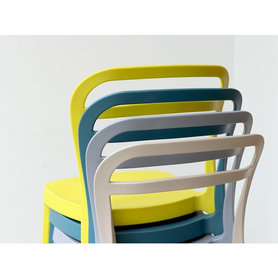 スタッキングチェア ステープル 椅子 イス チェア 積み重ねOK PP製 Staple chair YE BE GY BL オフィス 会議用チェア 会議室チェア カフェ MTS-143|3244p|04