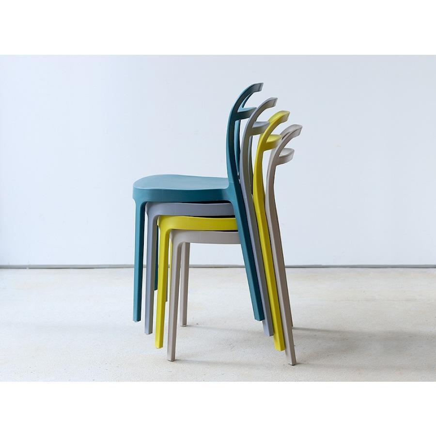 スタッキングチェア ステープル 椅子 イス チェア 積み重ねOK PP製 Staple chair YE BE GY BL オフィス 会議用チェア 会議室チェア カフェ MTS-143|3244p|05