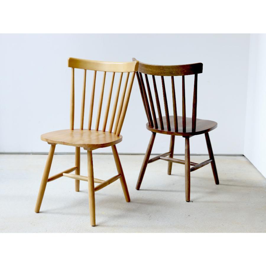 ダイニングチェア 椅子 いす イス 木製椅子 ラバーウッド 木製 ナチュラル ウォールナット ブラック ファンバック ウィンザーチェア風 MTS-152|3244p|02