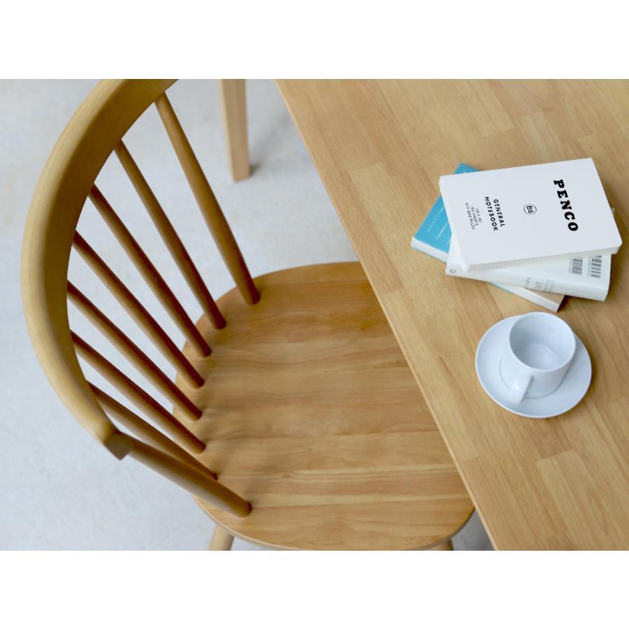 ダイニングチェア 椅子 いす イス 木製椅子 ラバーウッド 木製 ナチュラル ウォールナット ブラック ファンバック ウィンザーチェア風 MTS-152|3244p|13