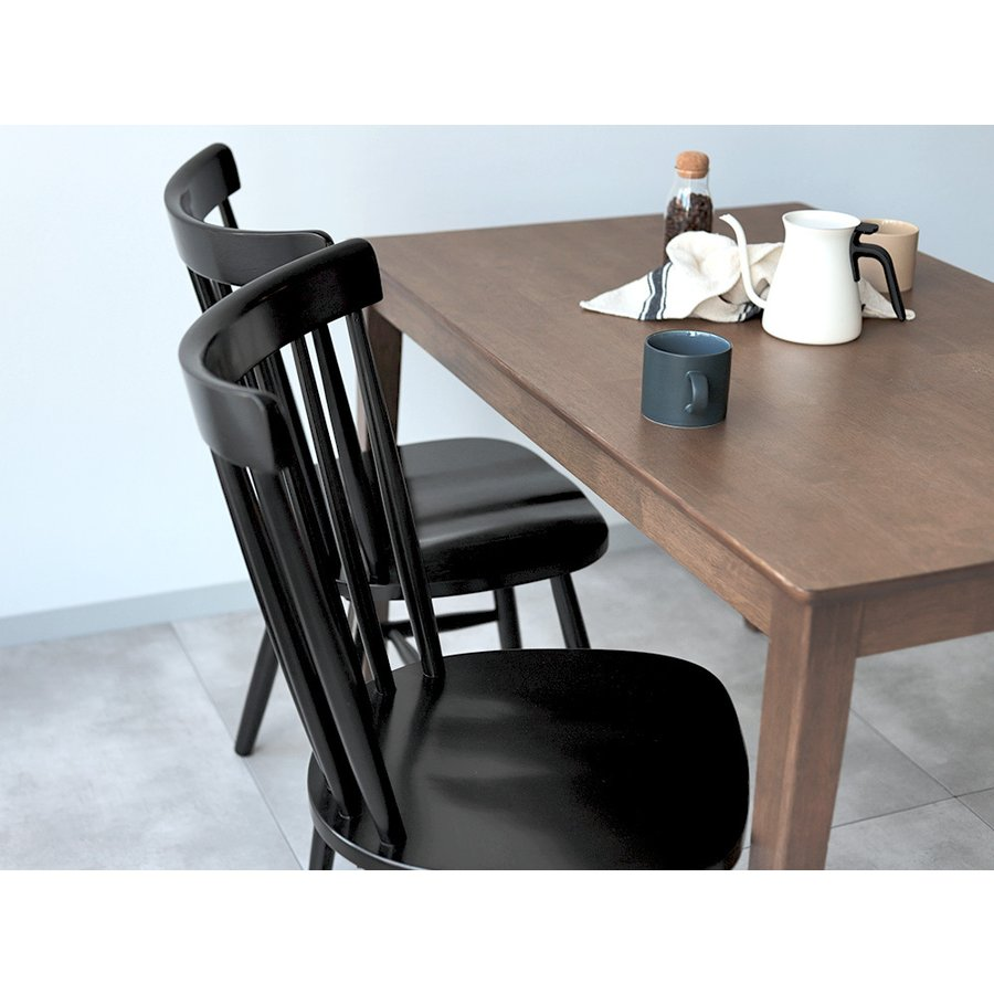 ダイニングチェア 椅子 いす イス 木製椅子 ラバーウッド 木製 ナチュラル ウォールナット ブラック ファンバック ウィンザーチェア風 MTS-152|3244p|17