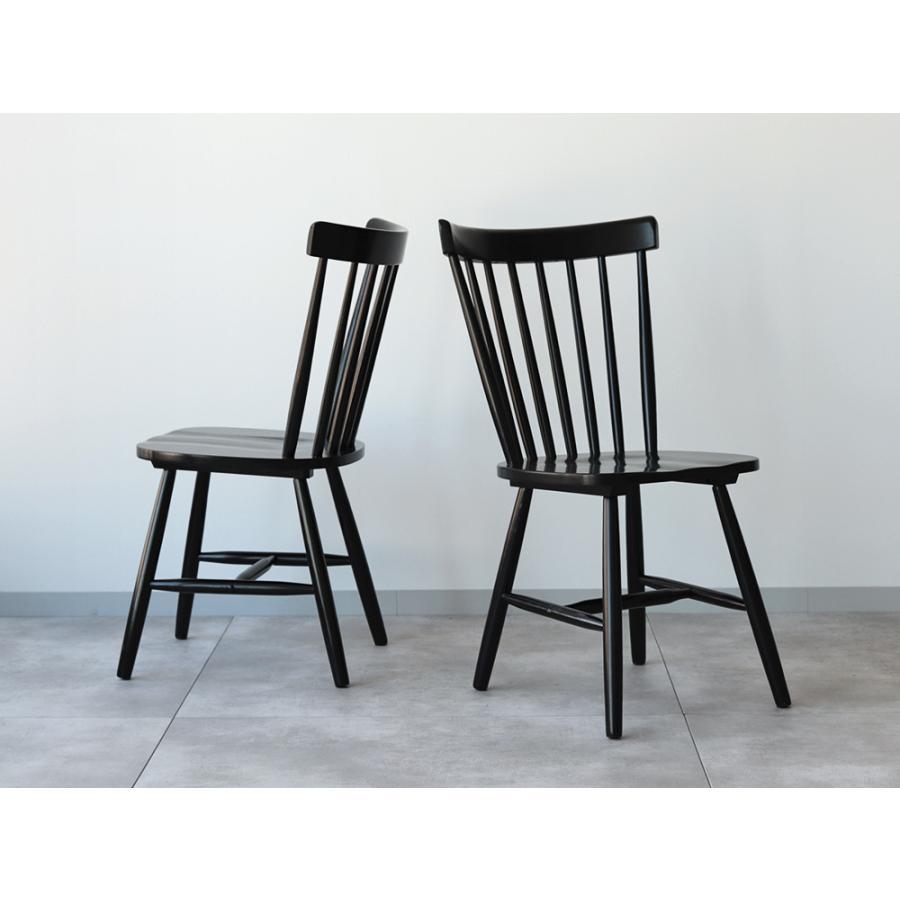 ダイニングチェア 椅子 いす イス 木製椅子 ラバーウッド 木製 ナチュラル ウォールナット ブラック ファンバック ウィンザーチェア風 MTS-152|3244p|03
