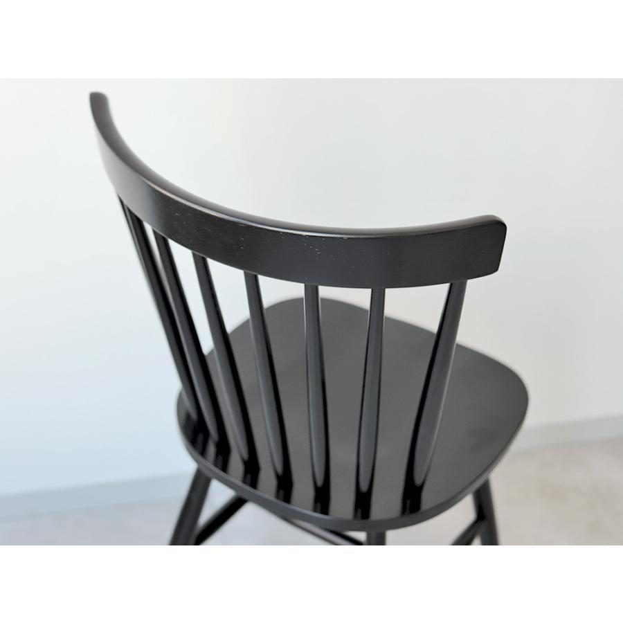 ダイニングチェア 椅子 いす イス 木製椅子 ラバーウッド 木製 ナチュラル ウォールナット ブラック ファンバック ウィンザーチェア風 MTS-152|3244p|05