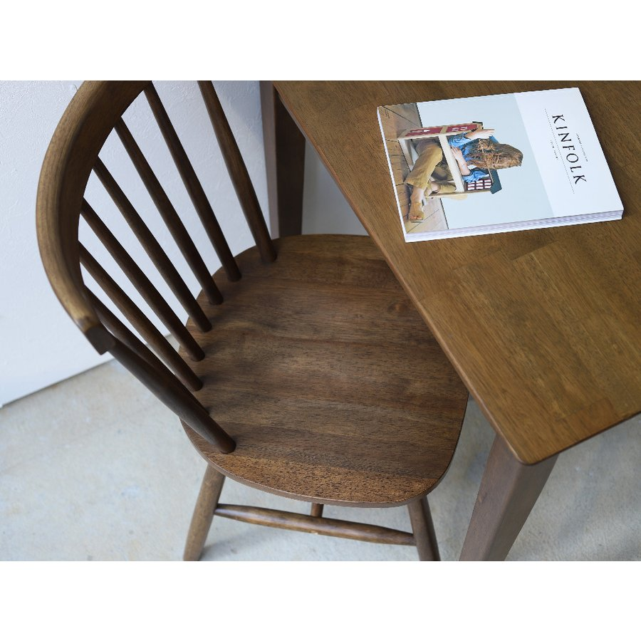 ダイニングチェア 椅子 いす イス 木製椅子 ラバーウッド 木製 ナチュラル ウォールナット ブラック ファンバック ウィンザーチェア風 MTS-152|3244p|08