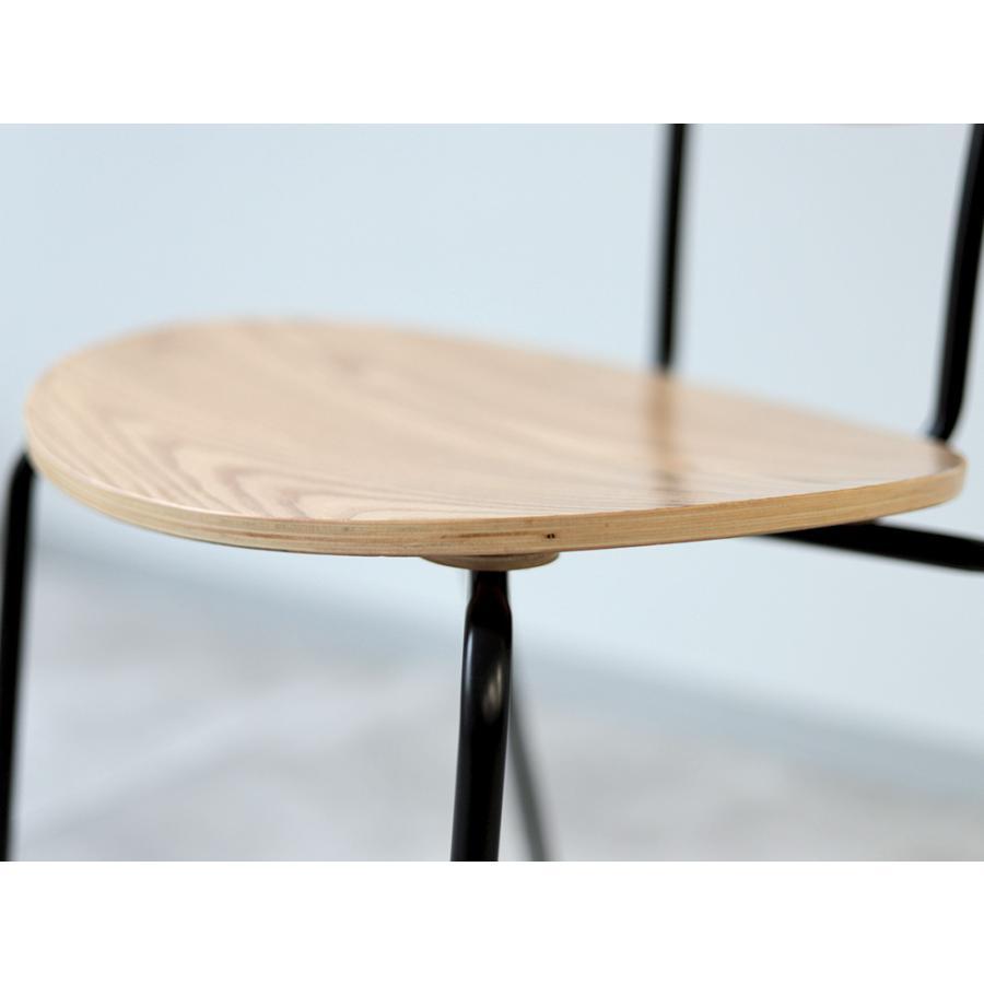 ダイニングチェア アイアン ウッド 木製チェア イス 椅子 スタッキングチェア アッシュ タモ ナチュラル ウォールナット 【数量限定セール】|3244p|20
