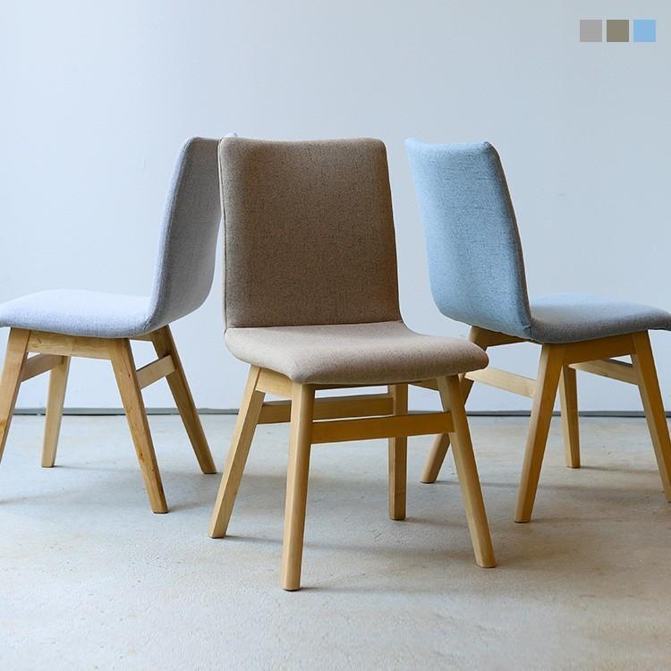 ダイニングチェア 椅子 イス チェア 布張り グレー ベージュ ライトブルー GY BE LB 北欧 HOC-711|3244p