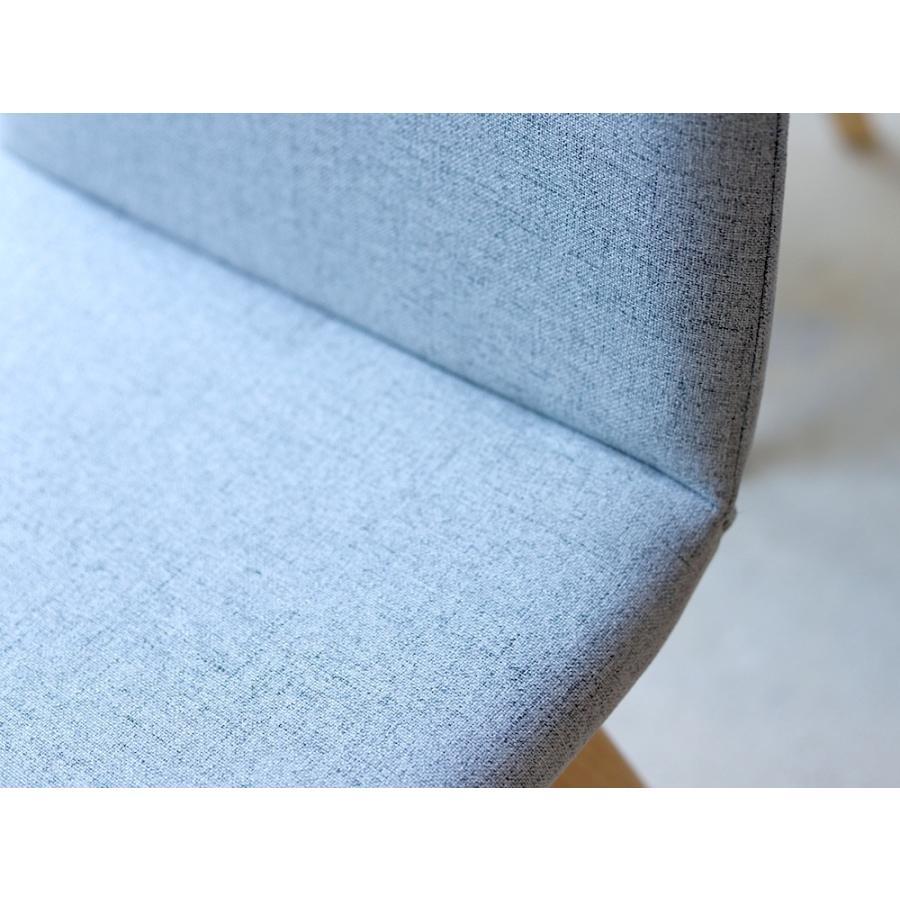 ダイニングチェア 椅子 イス チェア 布張り グレー ベージュ ライトブルー GY BE LB 北欧 HOC-711|3244p|17
