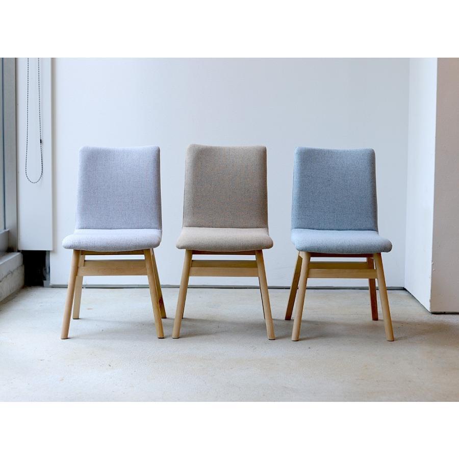 ダイニングチェア 椅子 イス チェア 布張り グレー ベージュ ライトブルー GY BE LB 北欧 HOC-711|3244p|06