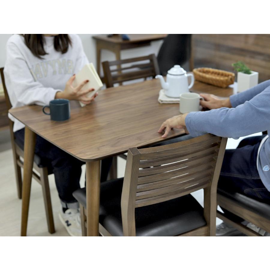 ダイニングテーブル トムテ 2〜4名用 木製 TAC-242WAL W120cm 東谷(azumaya) tomte 3244p 05