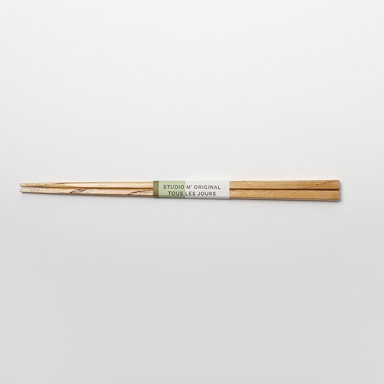 栗箸 中 kuri bashi M studio m スタジオエム 箸|3244p