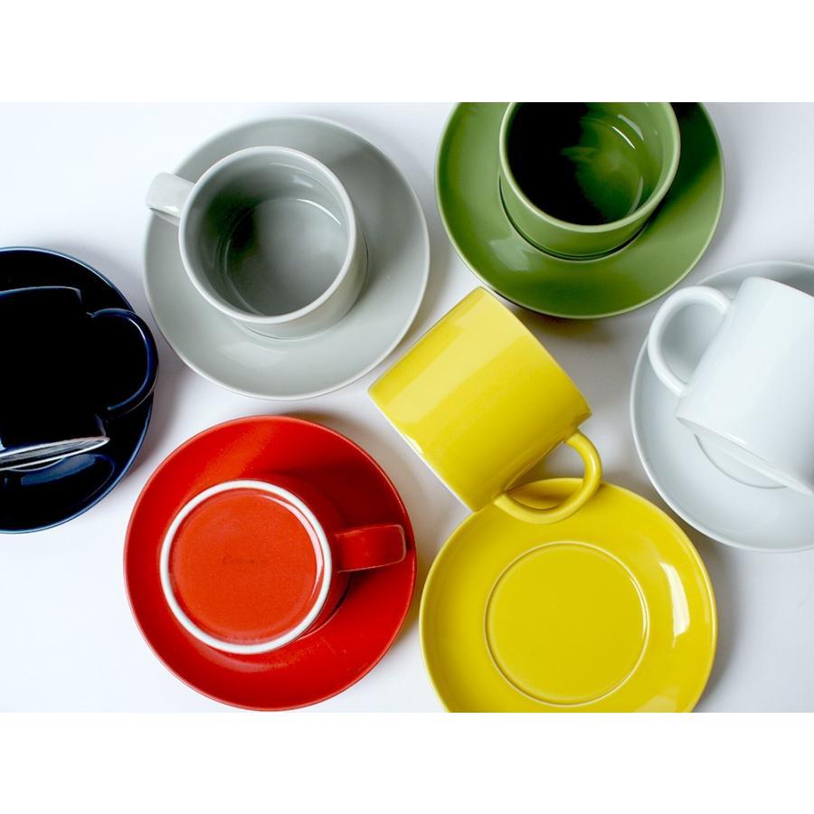 Common コーヒーC&S 180ml カップ ソーサー セット 西海陶器 SAIKAI WH GY YE NV RD GR|3244p|02