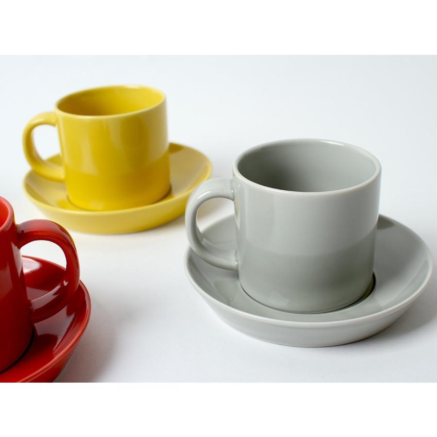 Common コーヒーC&S 180ml カップ ソーサー セット 西海陶器 SAIKAI WH GY YE NV RD GR|3244p|03