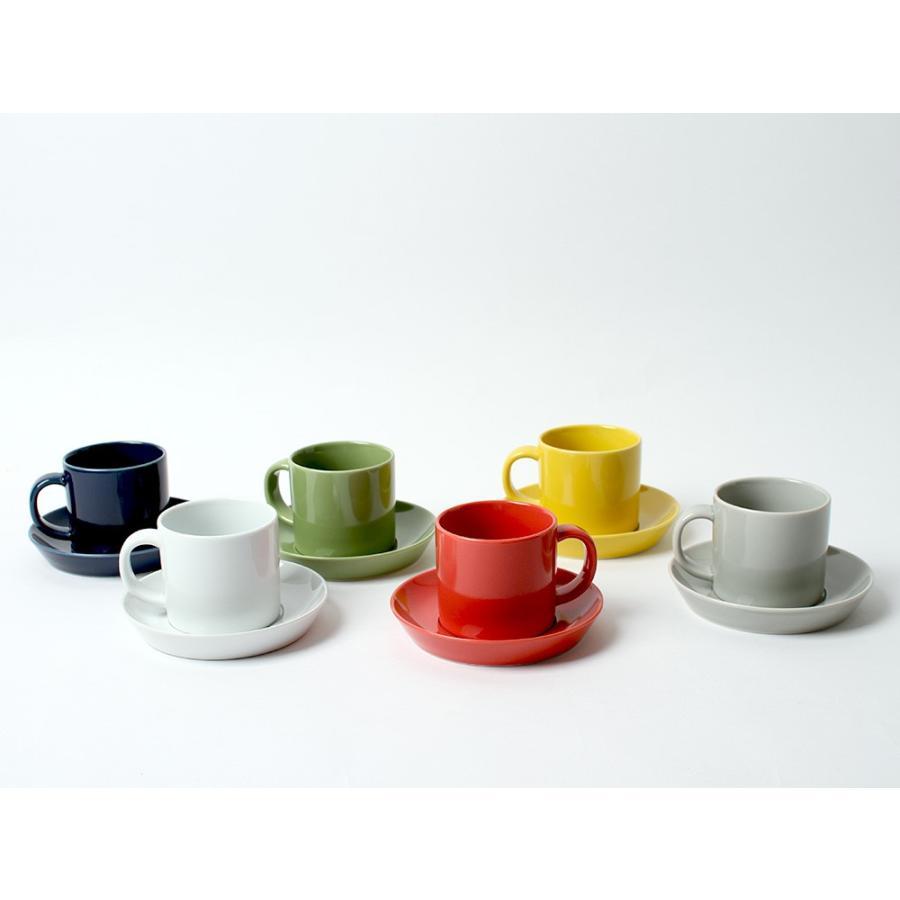 Common コーヒーC&S 180ml カップ ソーサー セット 西海陶器 SAIKAI WH GY YE NV RD GR|3244p|21