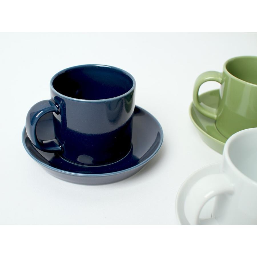 Common コーヒーC&S 180ml カップ ソーサー セット 西海陶器 SAIKAI WH GY YE NV RD GR|3244p|04