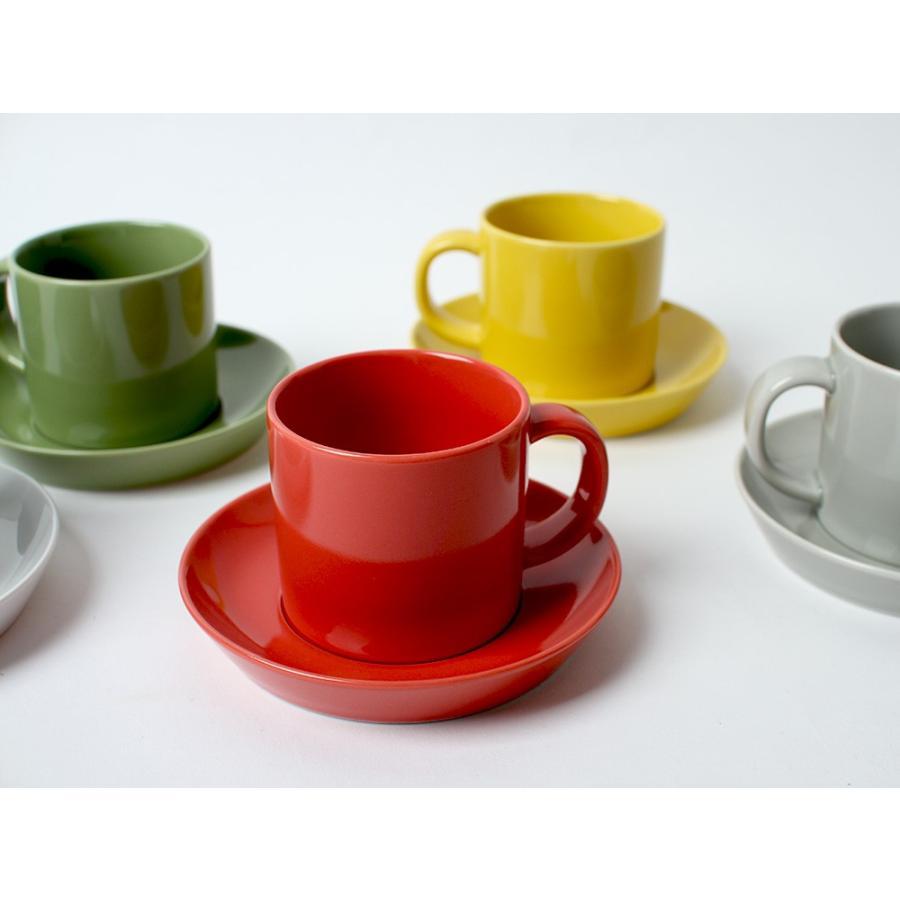 Common コーヒーC&S 180ml カップ ソーサー セット 西海陶器 SAIKAI WH GY YE NV RD GR|3244p|05