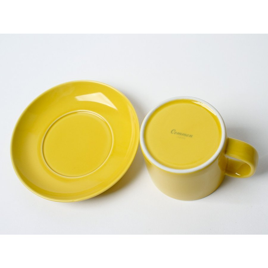Common コーヒーC&S 180ml カップ ソーサー セット 西海陶器 SAIKAI WH GY YE NV RD GR|3244p|06