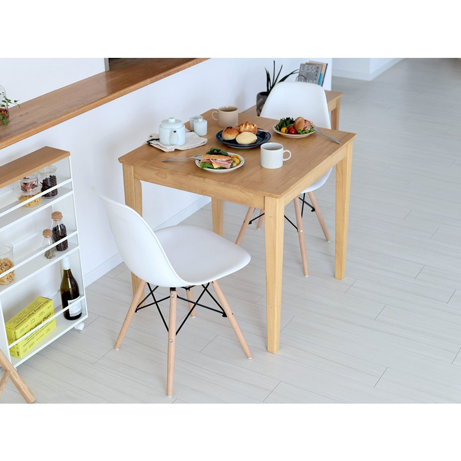 ダイニングテーブルセット 3点 2人 ダイニングセット 8カラー ダイニングテーブル W750 シェルチェア リプロダクト 2脚セットMTS-063、MTS-032 3244p 07