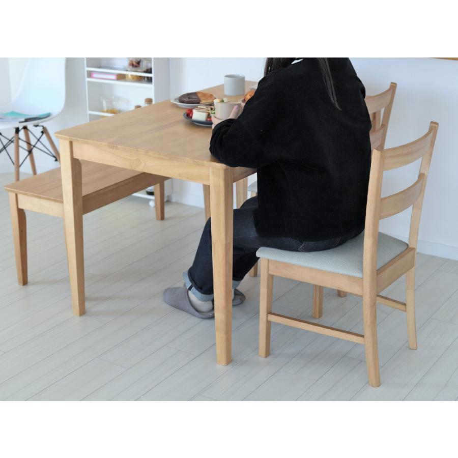 ダイニングテーブルセット 4点 4人 ダイニングセット ダイニングテーブル W1200 ダイニングチェア2脚 2人掛ベンチ1台 MTS-060、MTS-061 、MTS-062|3244p|16