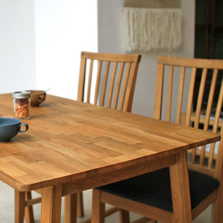 ダイニングテーブルセット 4点 4人 ダイニングセット オーク テーブル W1200 チェア2脚 ベンチ1台 MTS-086、MTS-092、MTS-090|3244p|04