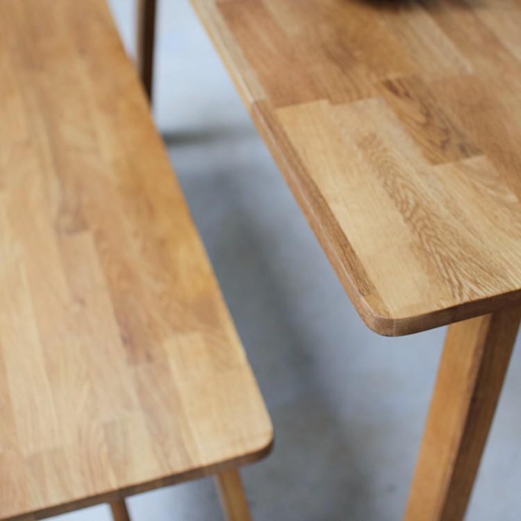 ダイニングテーブルセット 4点 4人 ダイニングセット オーク テーブル W1200 チェア2脚 ベンチ1台 MTS-086、MTS-092、MTS-090|3244p|07
