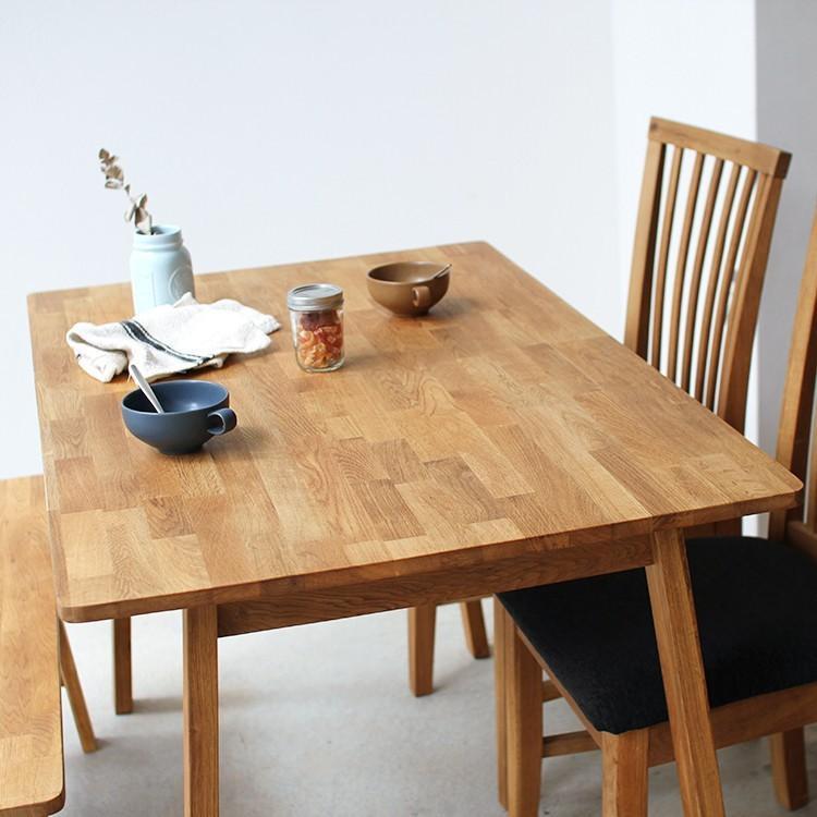 ダイニングテーブルセット 4点 4人 ダイニングセット オーク テーブル W1200 チェア2脚 ベンチ1台 MTS-086、MTS-092、MTS-090|3244p|08