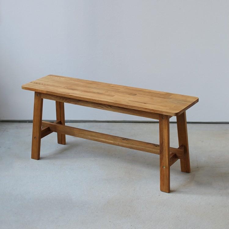 ダイニングテーブルセット 4点 4人 ダイニングセット オーク テーブル W1200 スツール2脚 ベンチ1台 MTS-086、MTS-089、MTS-090|3244p|11