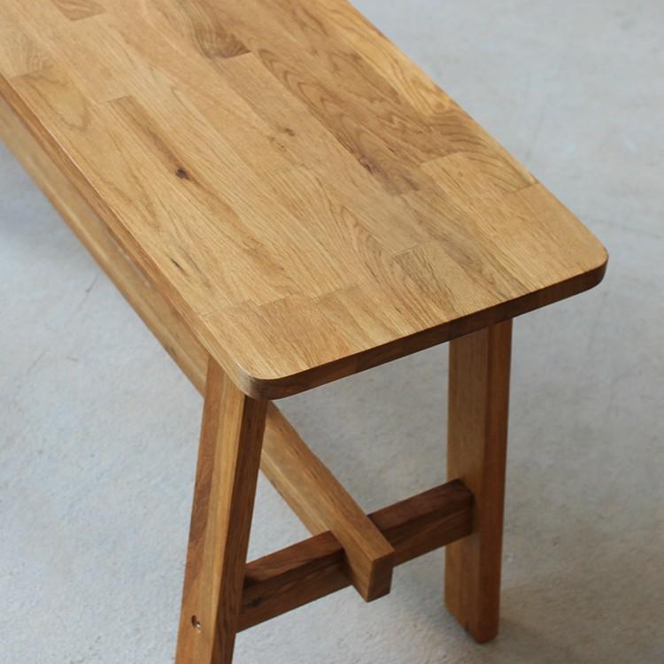 ダイニングテーブルセット 4点 4人 ダイニングセット オーク テーブル W1200 スツール2脚 ベンチ1台 MTS-086、MTS-089、MTS-090|3244p|13