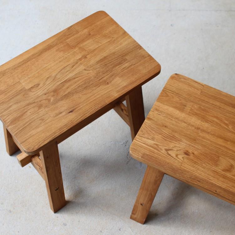 ダイニングテーブルセット 4点 4人 ダイニングセット オーク テーブル W1200 スツール2脚 ベンチ1台 MTS-086、MTS-089、MTS-090|3244p|17