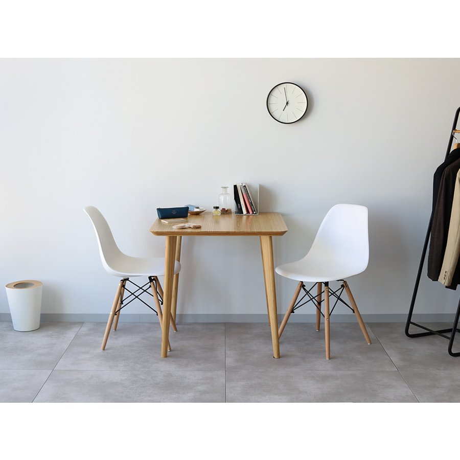 ダイニングテーブルセット 3点 2人 ダイニングセット 竹製 バンブー ダイニングテーブル W750 シェルチェア 15色 同色2脚セット MTS-085、MTS-032 WH|3244p|13