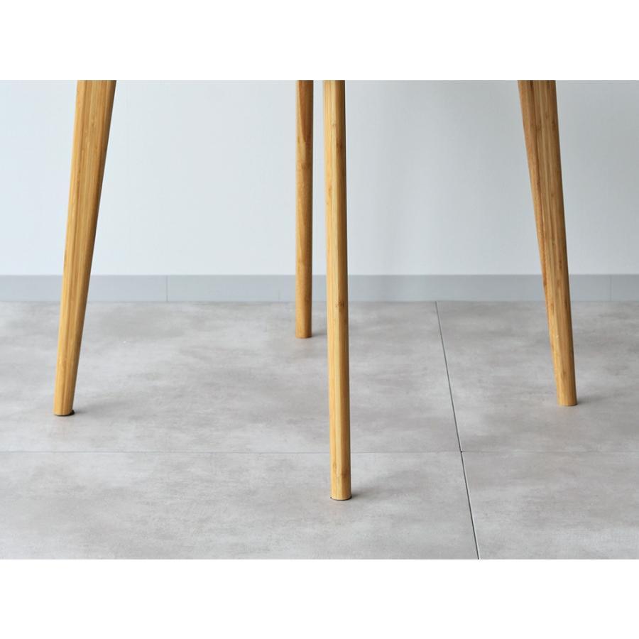 ダイニングテーブルセット 3点 2人 ダイニングセット 竹製 バンブー ダイニングテーブル W750 シェルチェア 15色 同色2脚セット MTS-085、MTS-032 WH|3244p|17