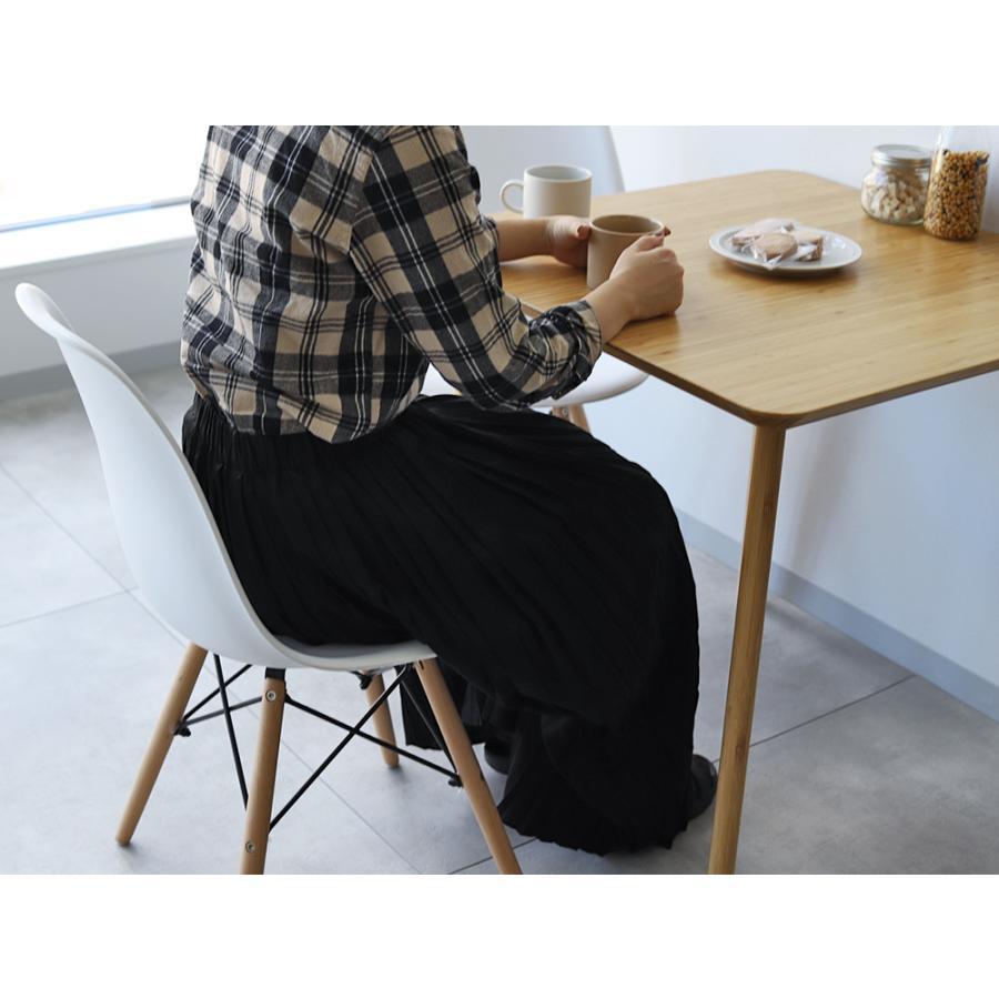ダイニングテーブルセット 3点 2人 ダイニングセット 竹製 バンブー ダイニングテーブル W750 シェルチェア 15色 同色2脚セット MTS-085、MTS-032 WH|3244p|09