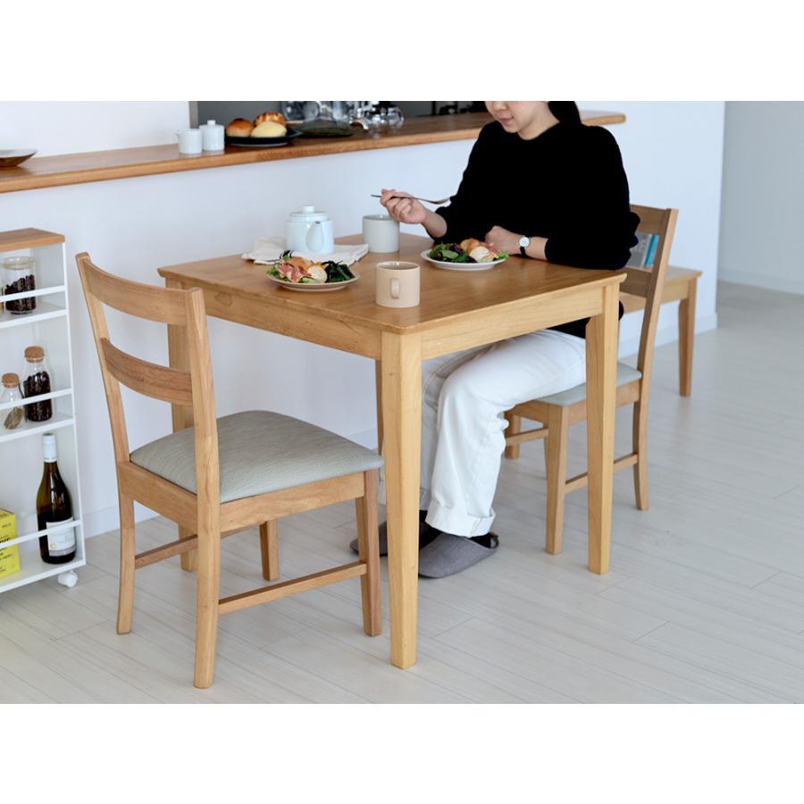 ダイニングテーブルセット 3点 2人 ダイニングセット ラバーウッド テーブル W750 チェア 2脚セット MTS-063、MTS-061|3244p|02