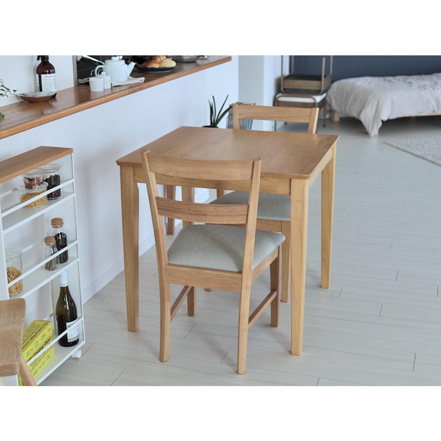 ダイニングテーブルセット 3点 2人 ダイニングセット ラバーウッド テーブル W750 チェア 2脚セット MTS-063、MTS-061|3244p|11