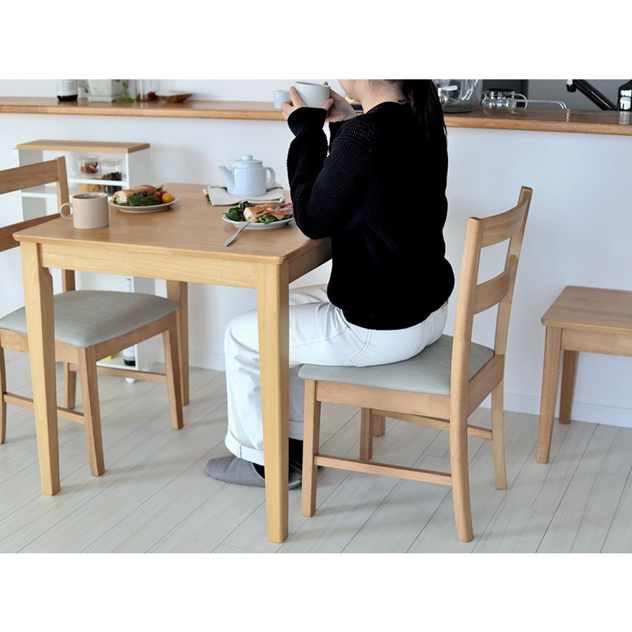 ダイニングテーブルセット 3点 2人 ダイニングセット ラバーウッド テーブル W750 チェア 2脚セット MTS-063、MTS-061|3244p|13