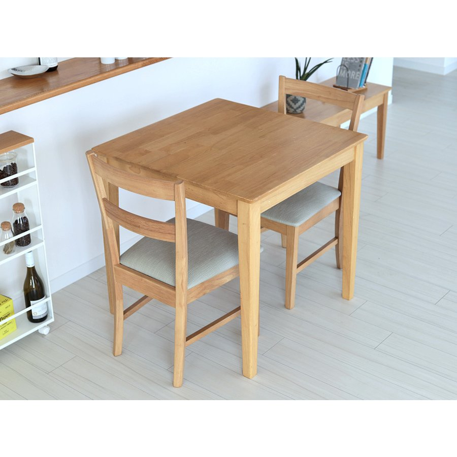 ダイニングテーブルセット 3点 2人 ダイニングセット ラバーウッド テーブル W750 チェア 2脚セット MTS-063、MTS-061|3244p|15