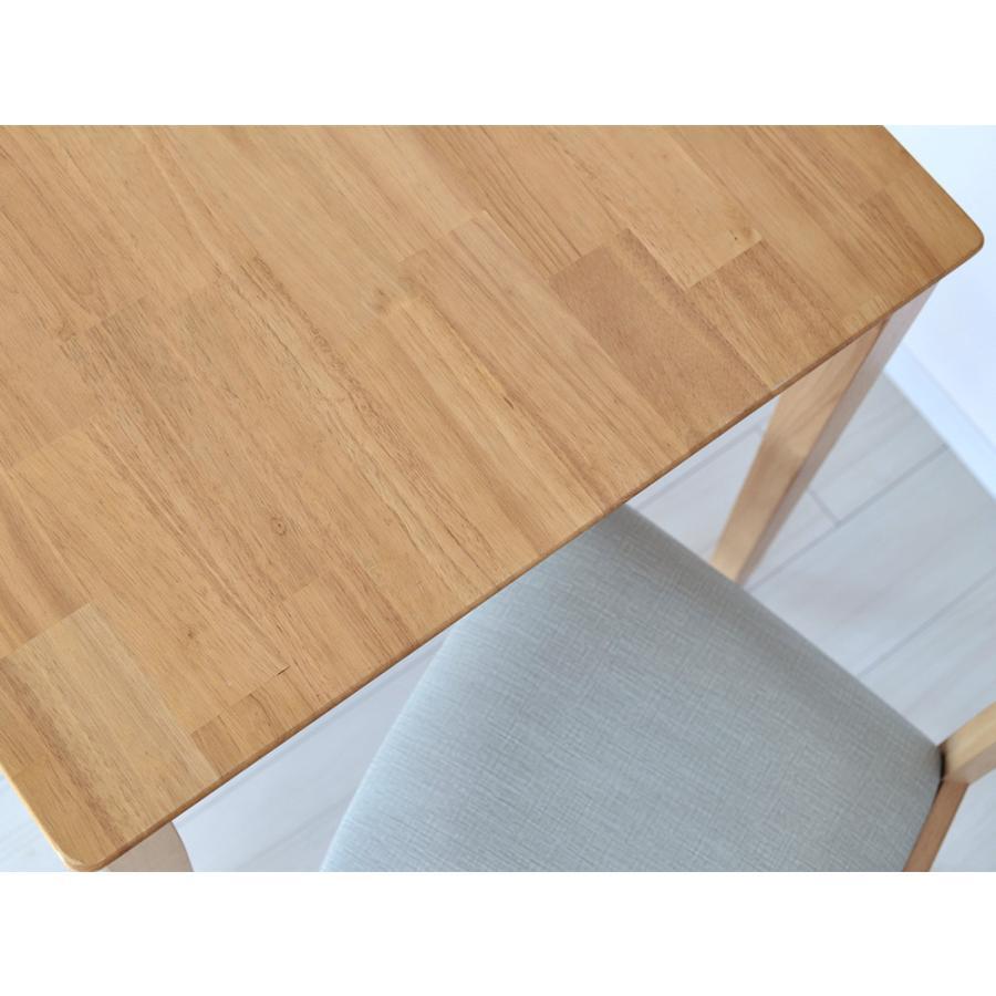 ダイニングテーブルセット 3点 2人 ダイニングセット ラバーウッド テーブル W750 チェア 2脚セット MTS-063、MTS-061|3244p|16