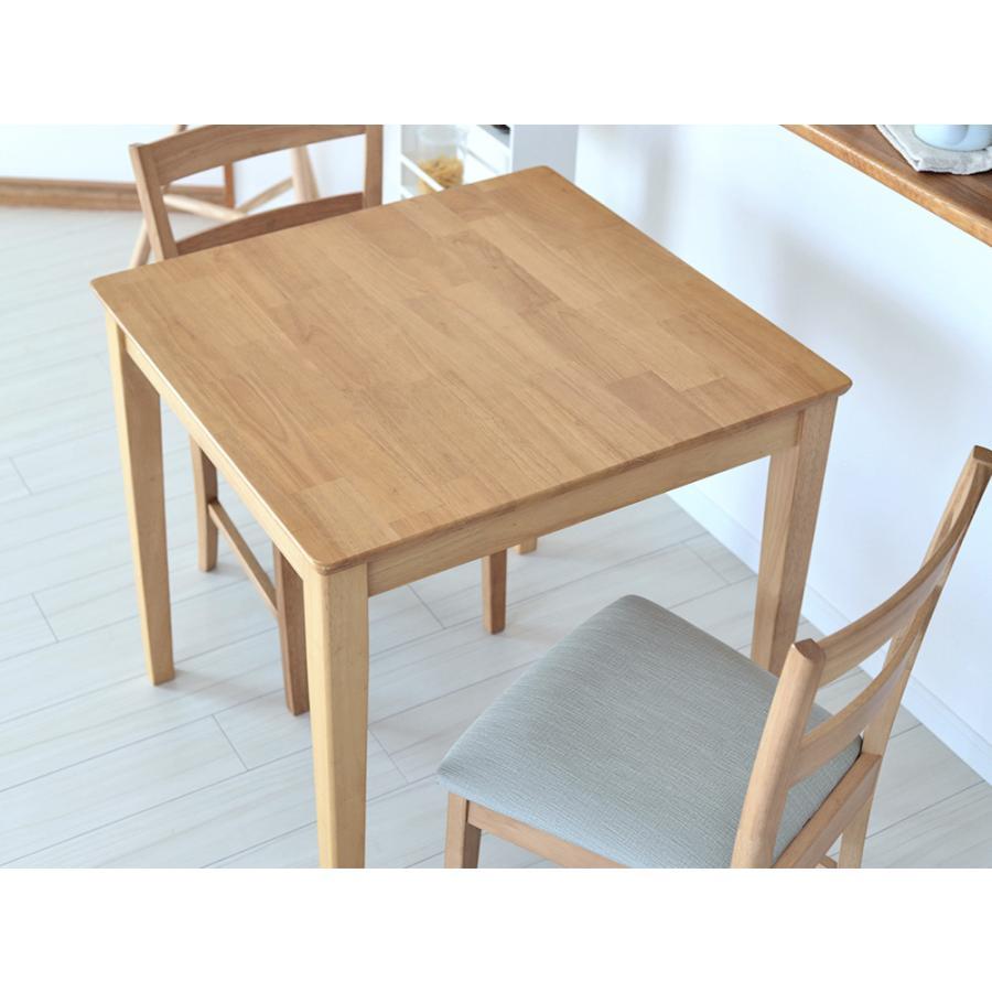 ダイニングテーブルセット 3点 2人 ダイニングセット ラバーウッド テーブル W750 チェア 2脚セット MTS-063、MTS-061|3244p|17