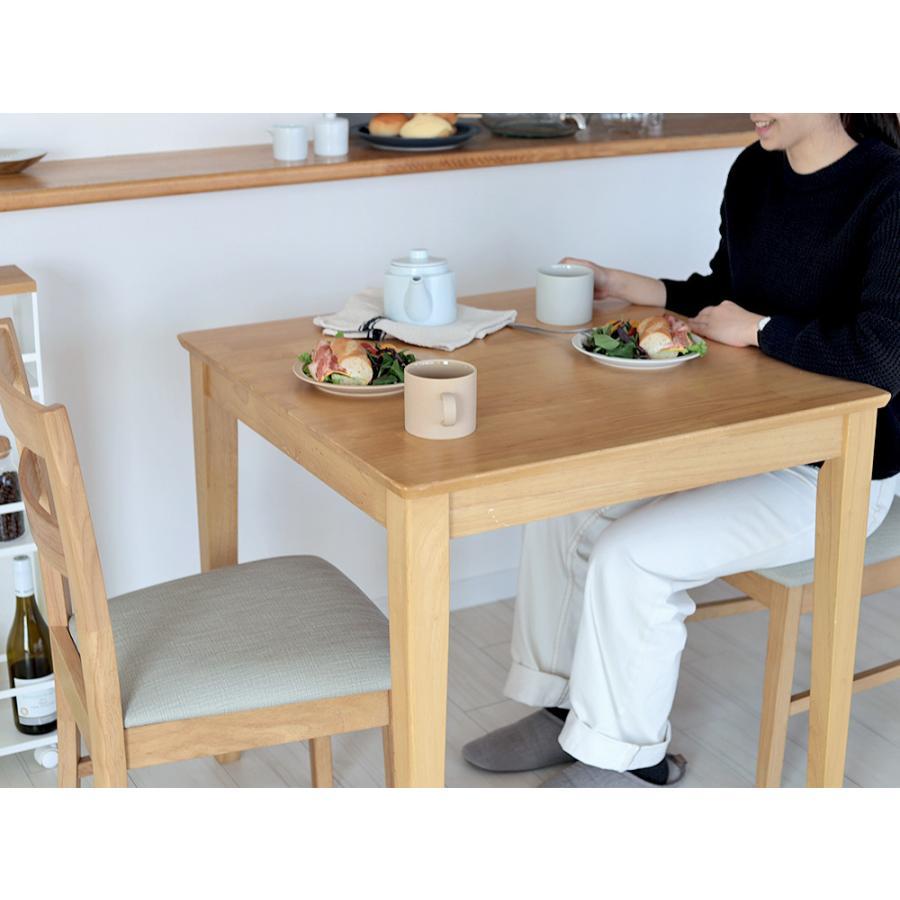 ダイニングテーブルセット 3点 2人 ダイニングセット ラバーウッド テーブル W750 チェア 2脚セット MTS-063、MTS-061|3244p|19